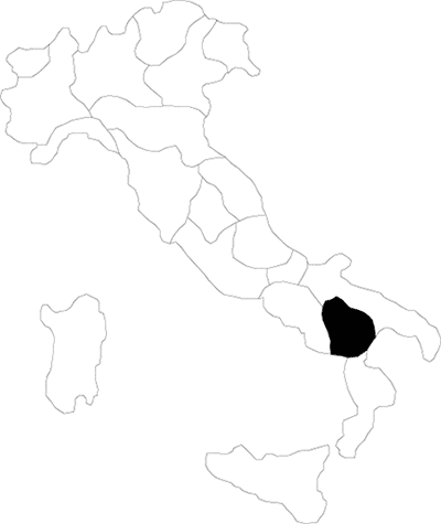 Basilicata region map