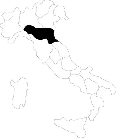 Emilia Romagna region map