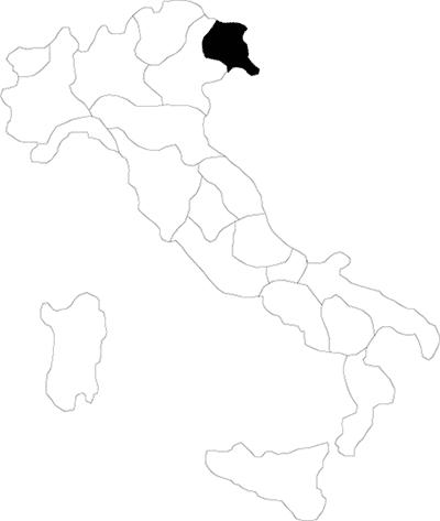 Friuli region map