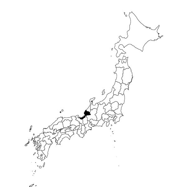Fukui region map