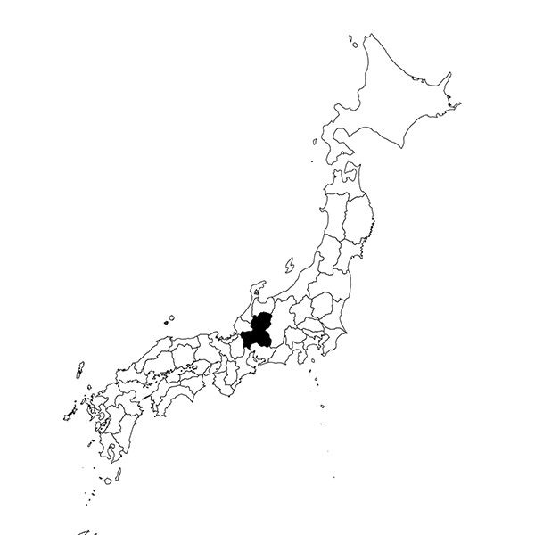 Gifu region map