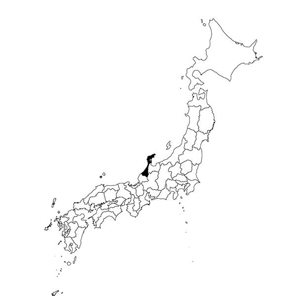 Ishikawa region map
