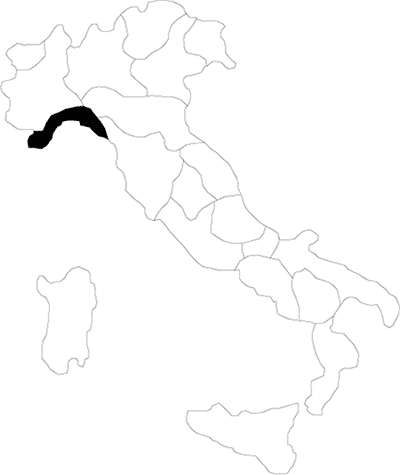 Liguria region map
