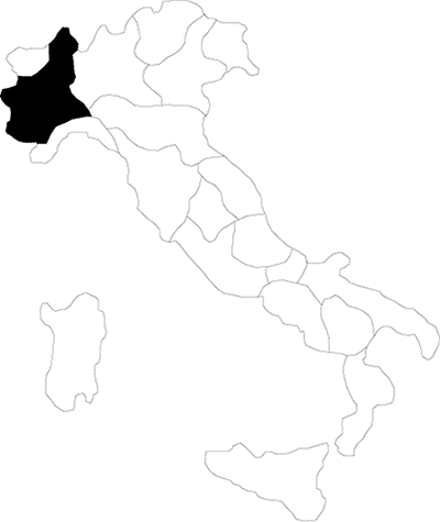 Piedmont region map