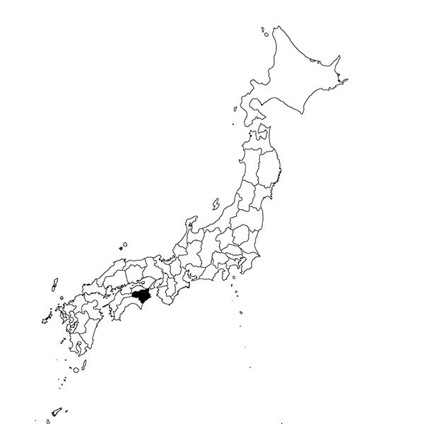 Tokushima region map