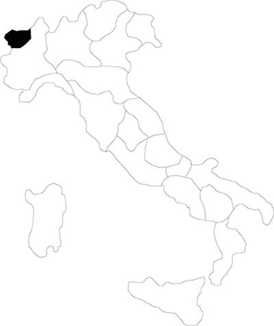 Valle d'Aosta region map