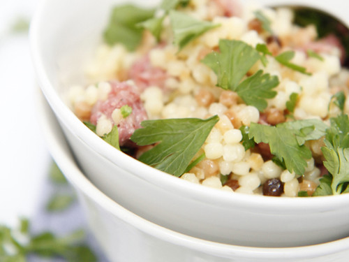 Fregola with Tuscan Sausage
