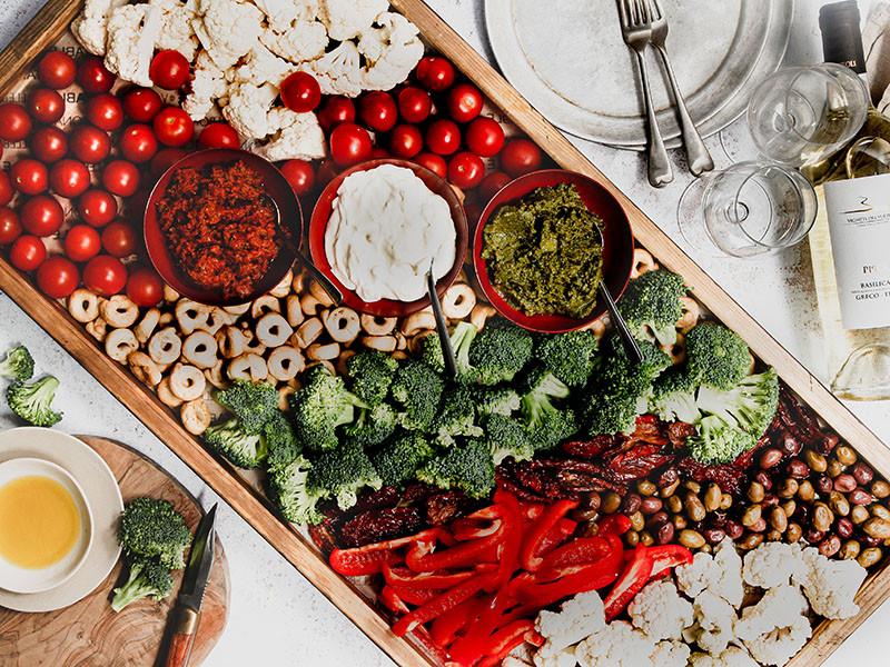 Vegetables & Pate Sharing Board