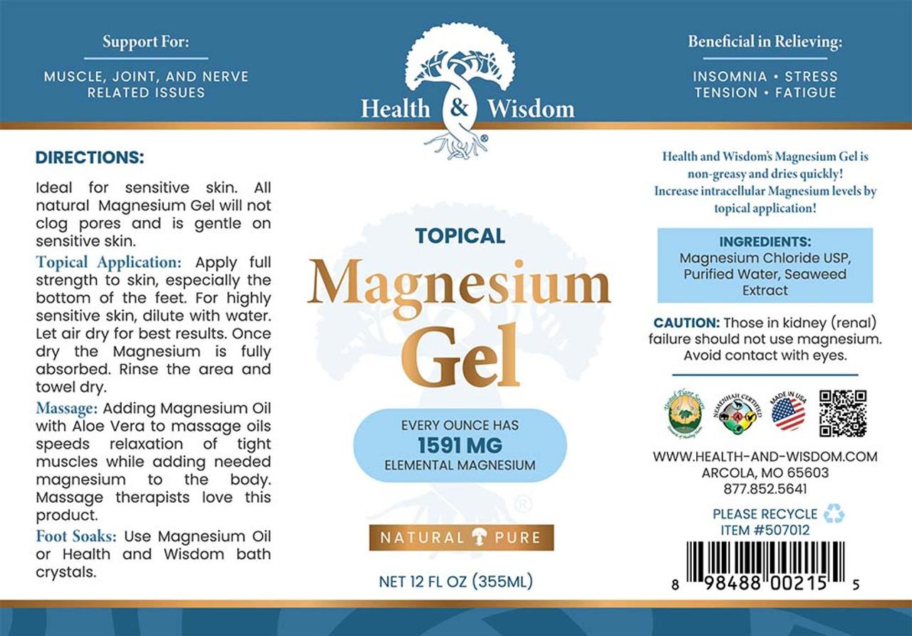 Magnesium Gel with Seaweed Extract 12 oz.