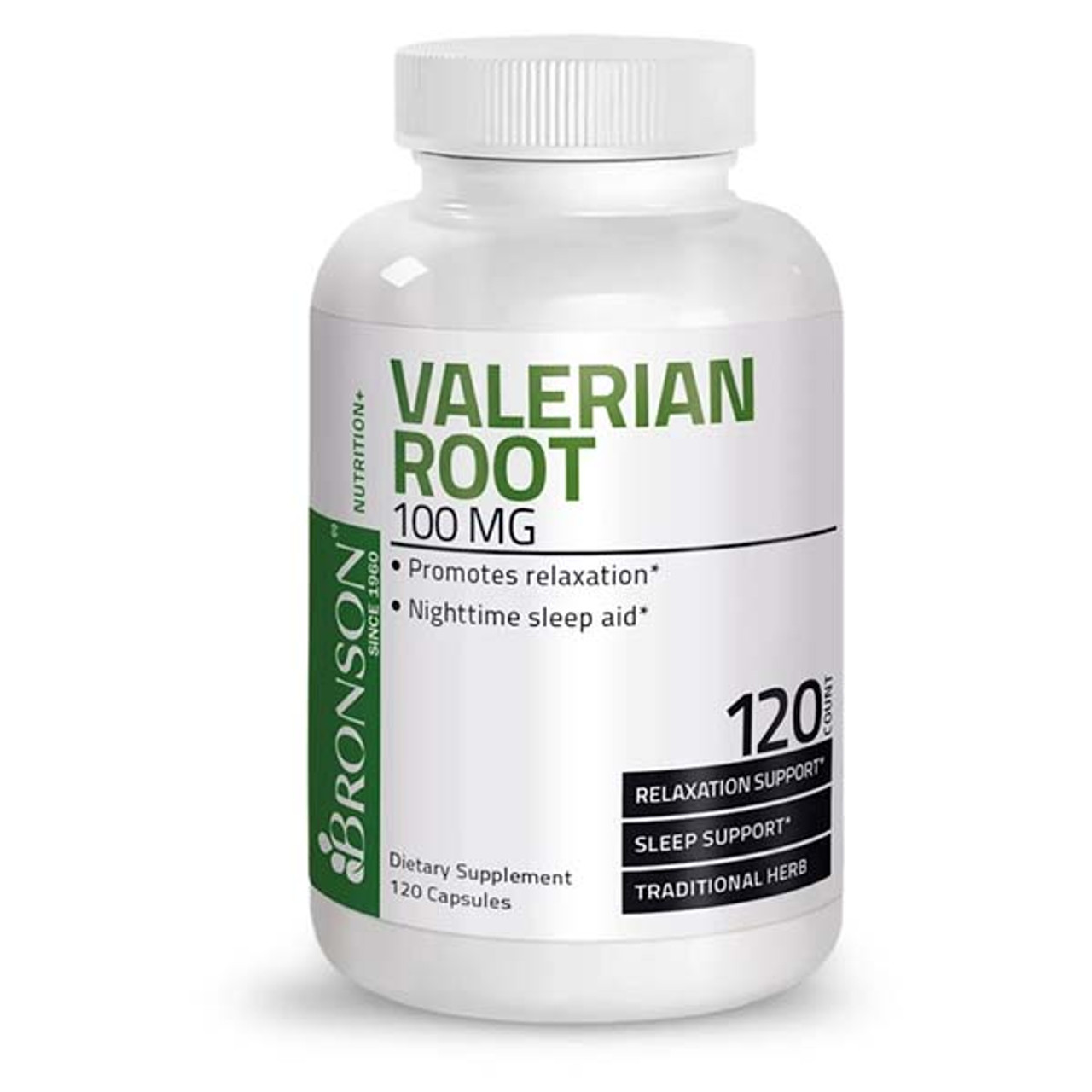 Valerian Root 100 mg (25 mg Extract)  120 Caps