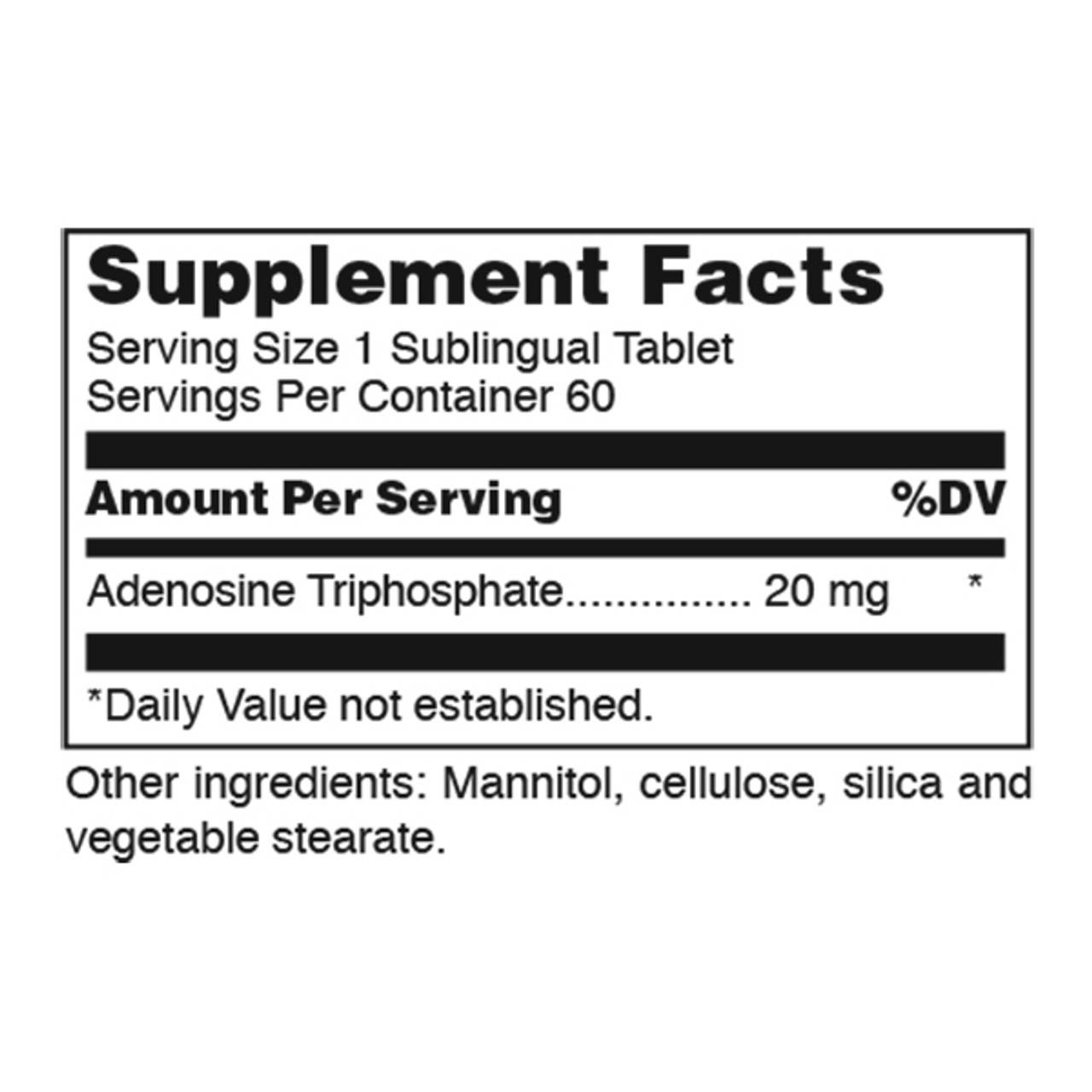 ATP-20 60 Dissolvable Tabs (20 mg)