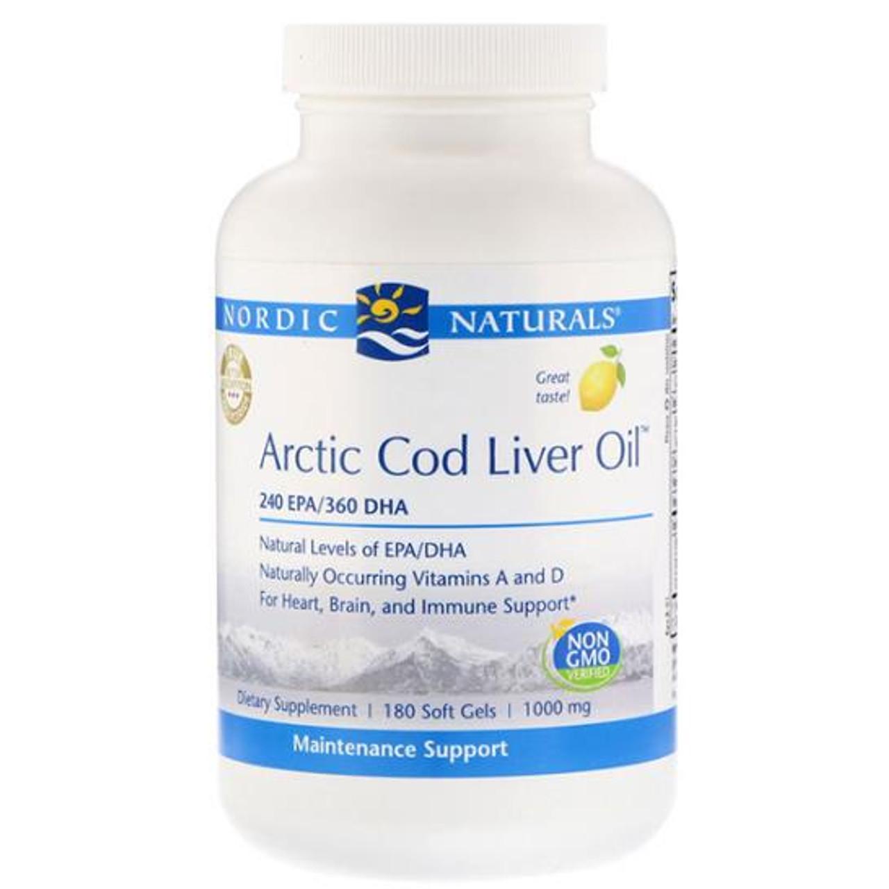 Arctic Cod Liver Oil (Lemon) 180 Soft Gels