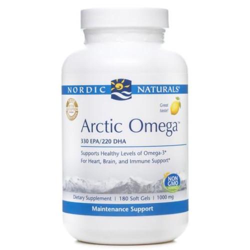 Arctic Omega (Lemon) 180 Soft Gels (1,000 mg)