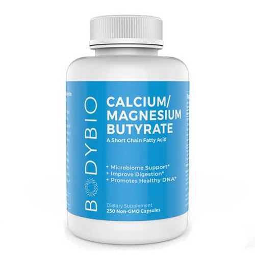 Body Bio Butyrate Cal Mag 250 Caps (600 mg)