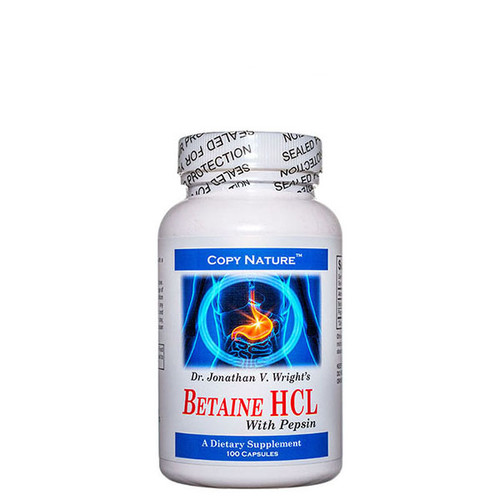 Betaine HCL with Pepsin 100 Caps