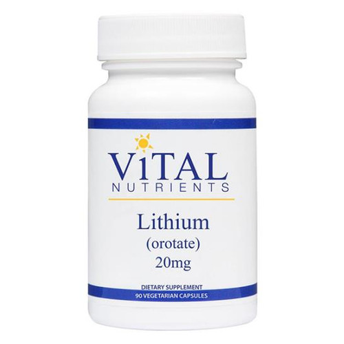 Lithium (Orotate) 90 VCaps (20 mg)