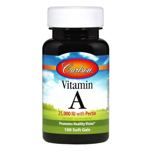 Vitamin A with Pectin 100 SoftGels (25,000 IU/7500 mcg)