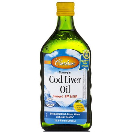 Cod Liver Oil (Lemon Flavor) 16.9 oz. (500 mL)