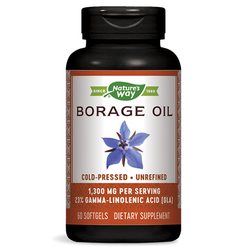 Borage Oil 60 Softgels (1,300 mg)