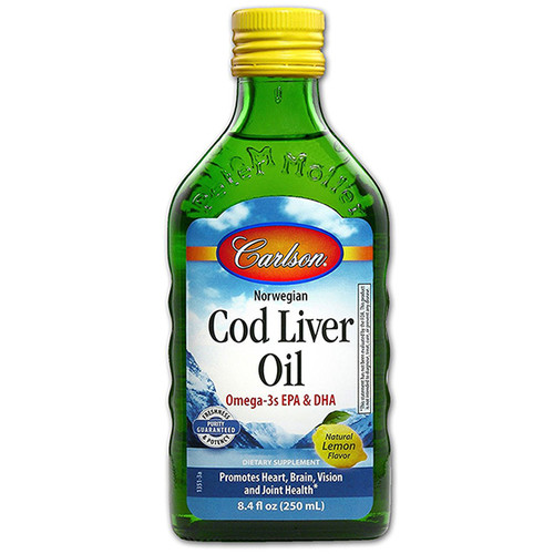 Cod Liver Oil (Lemon Flavor) 8.4 oz. (250 mL)