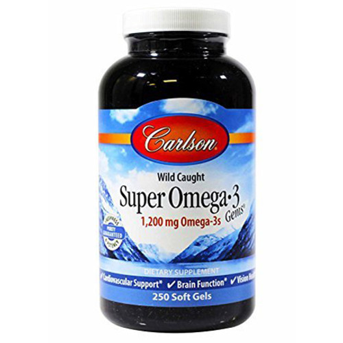 Super Omega-3 Fish Oil 250 Soft Gels (1,200 mg)