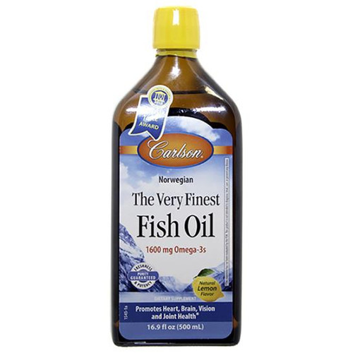 Finest Fish Oil (Lemon Flavor) 16.9 oz (500 ml)