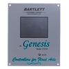 The Bartlett Genesis is the next generation of kiln controllers.  It has a modern, intuitive user platform, and touch screen display.  The Genesis has different user-interface levels to match the firing knowledge of the user, and a graphical display of the firing's progress.  It is capable of storing up to 12 custom programs with up to 32 segments each, or you can simply fire by cone number and speed.  This unit is Wifi enabled.  Soon users will be able to register their units with the manufacturer's website.  This will allow you to download software updates to your laptop, and in turn upload those updates to the controller itself.  Dimensions and wiring of this unit are identical to the previous V6-CF model, so people can upgrade to the Genesis from previous models with little effort.