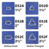 Ovals & Triangles Hollow Die Set