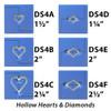 Hollow Hearts & Diamond Die Set