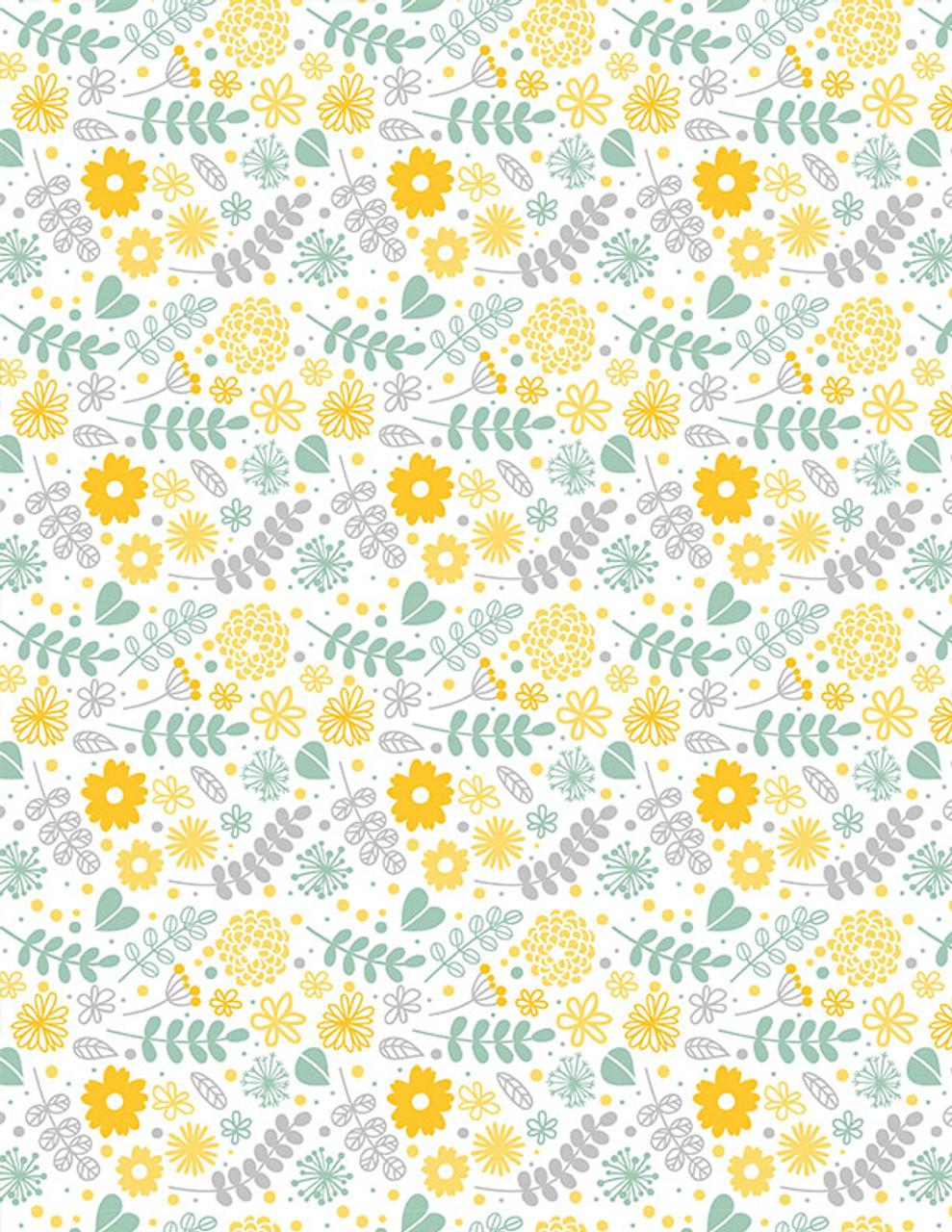 Flowers & Leafs Full Color UnderglazeTransfer19 x 13 in