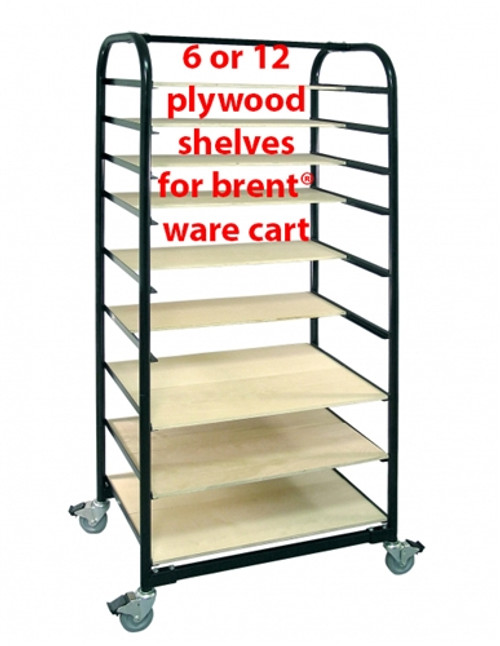 Brent Ware Cart Shelves, Set Of 6