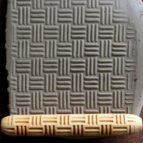 HR-19 3 Stripe Small Basket Weave HandRoller
