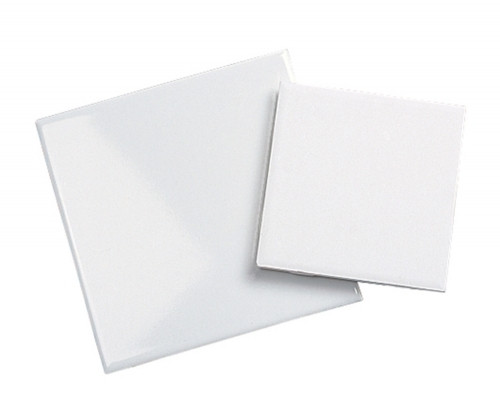"4.25"" x 4.25"" White Bisque Tile - each"