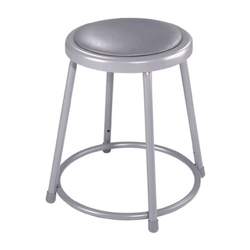 "18"" Fixed Height Stool with Padded Seat"