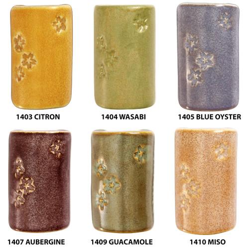 Shino Sample Pack - 6 colors (one 4 oz jar per color)