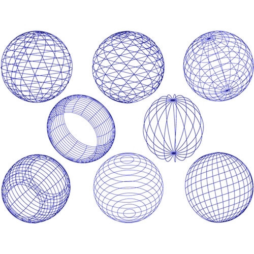 Geometric Sphere - Blue