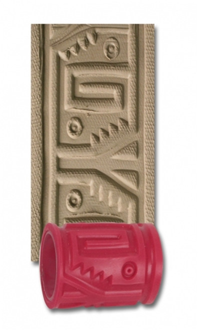 """AMACO 2"""" Textured Roller - Pre-Columbian"""