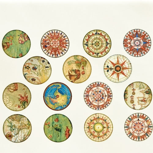 Antique Map Circles - Full Color