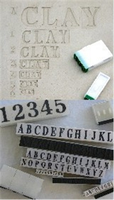 Rubber Stamps Letters SL10-A (set of 26) 1-1/8