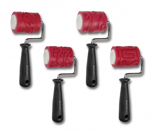"AMACO 2"" Textured Roller - Class Pack 4 Handles & 4 Sleeves"