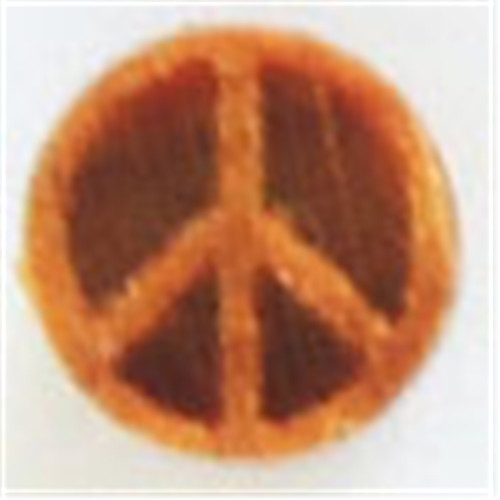 SMR-015 Debossed Peace Mini Round - 1 cm Stamp