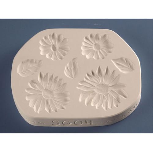 Sunflowers & Daisies Sprigmold SG04