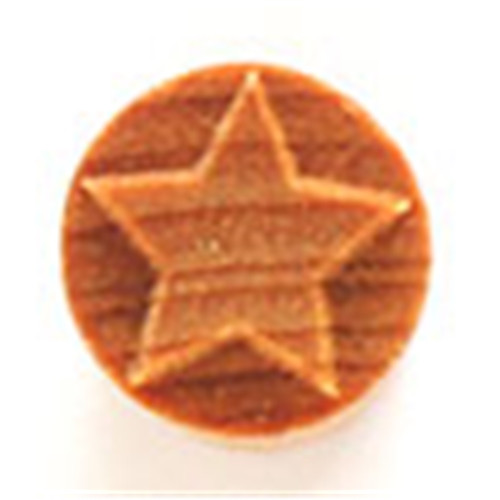 SCS-010 Embossed Star - 1.5 cm Round Stamp