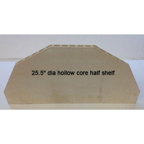 "Hollow Core High Alumina 26"" Half Shelf - 3/4"" Thick"