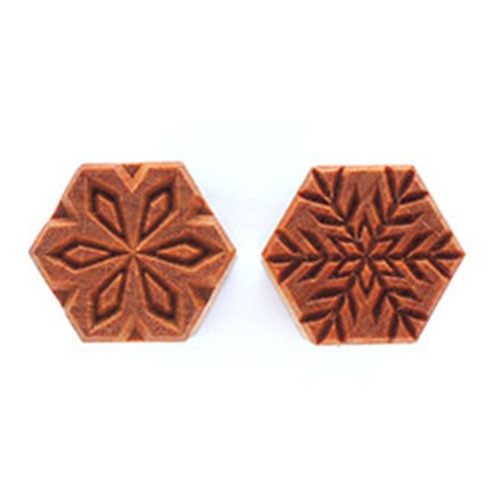 SHM-03 Snowflake - 3 cm Hexagon Stamp