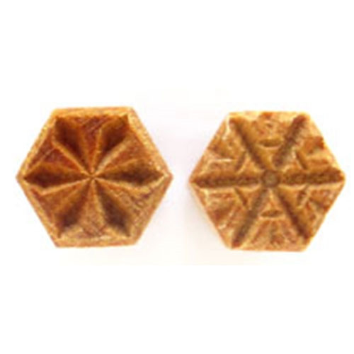 SHS-03 Snowflake - 1.5 cm Hexagon Stamp