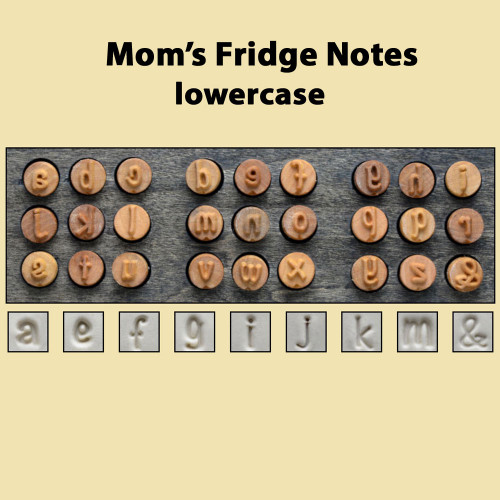 Mom's Fridge Notes - lower case