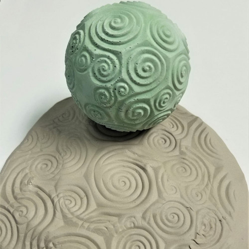 TS-20 Spirals Texture Sphere