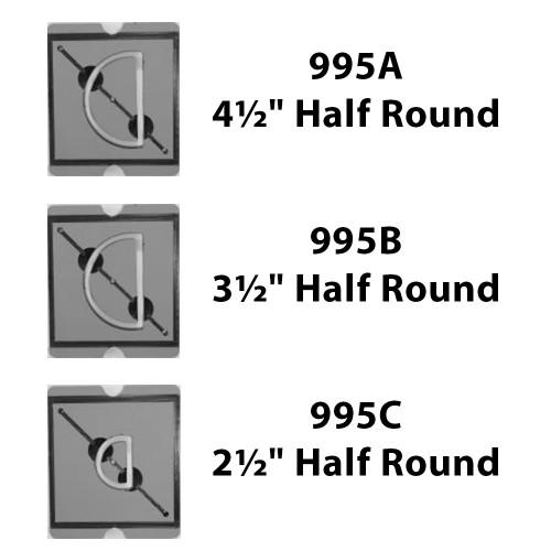 BB Half Round Die - 3 Pc