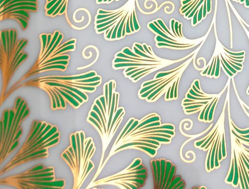 Ferns - Large Emerald Green & Gold